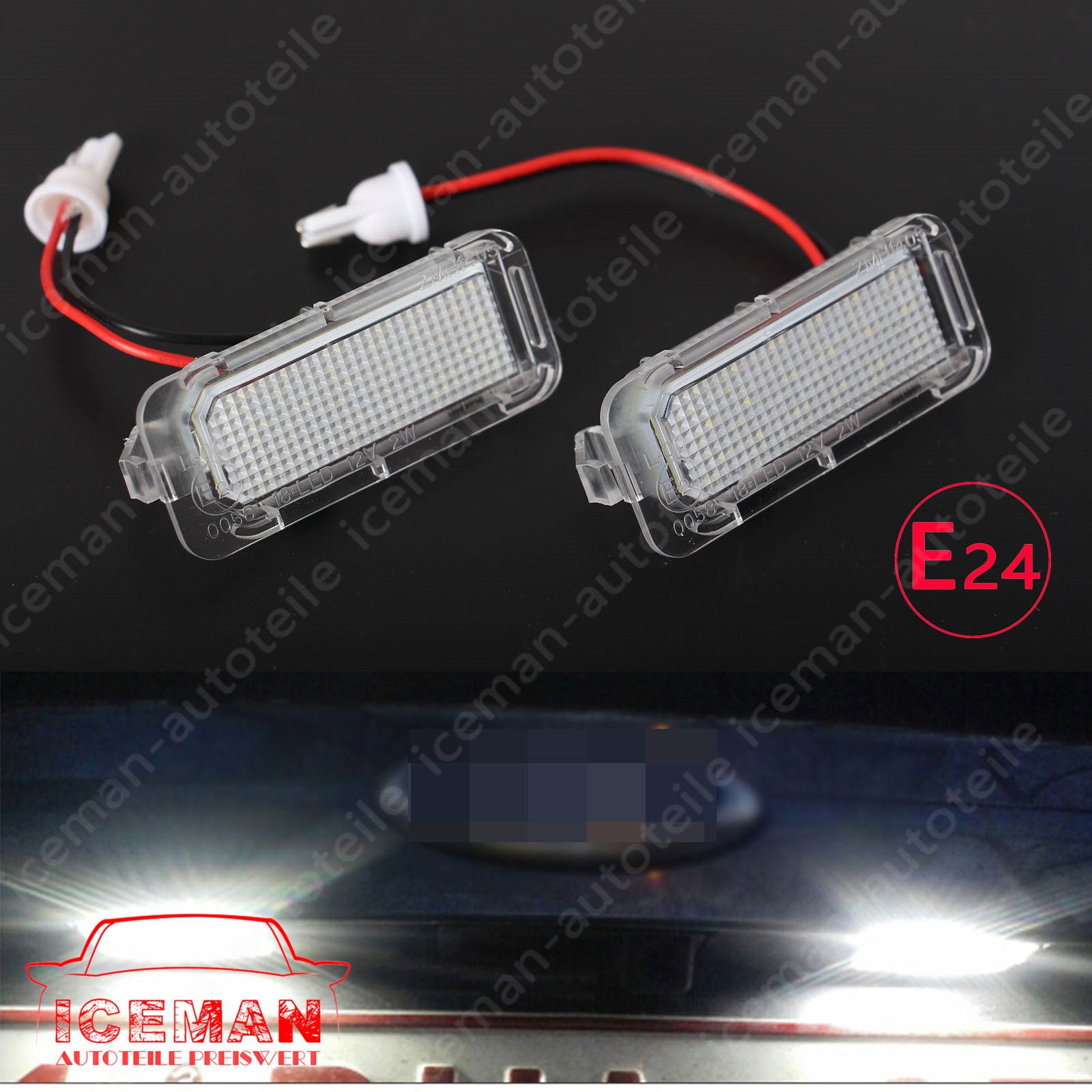 2x TOP LED Kennzeichenbeleuchtung Ford Transit Connect KS1